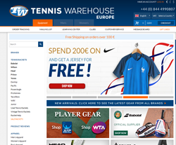 Tennis Warehouse Europe Gutscheincodes